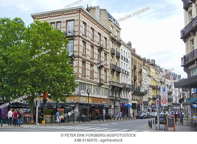 Rue Antoine Dansaert, Antoine Dansaertstraat, Senne district, Brussels, Belgium