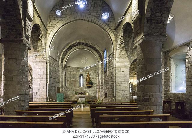 Gleisa Mair de Diu dera Purificacion church at Bossost village in Aran valley Lleida Catalonia Spain