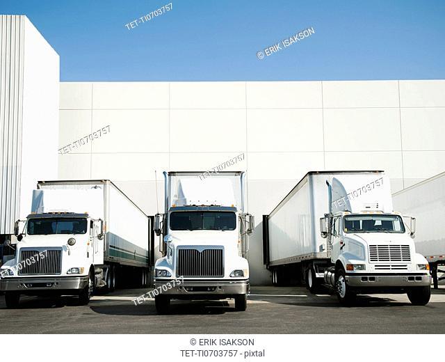 Trucks and warehouse