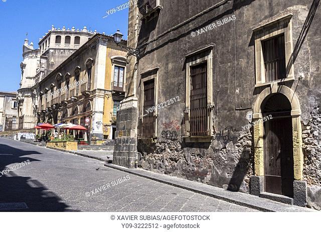 Via Crociferi, Catania, Sicily, Italy