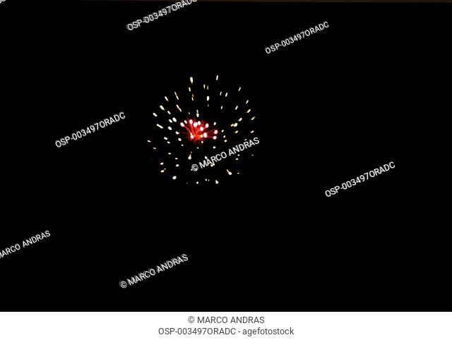 a night celebration with fireworks