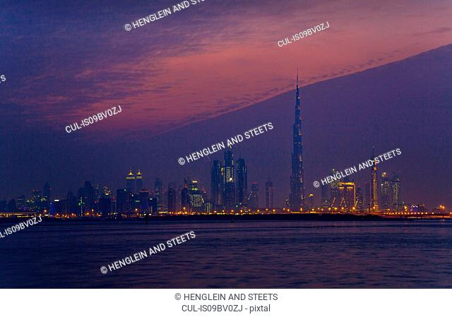 Night sky over Dubai, UAE