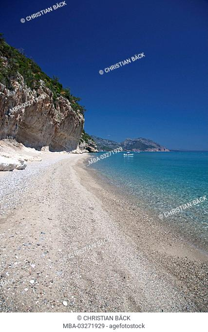 The bay of Cala Luna, Golfo di Orosei, East sardinia, Sardinia, Italy, Europe