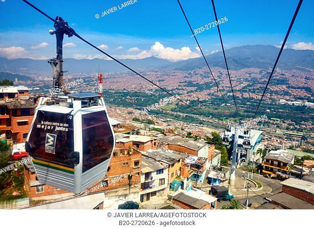 Metrocable, Santo Domingo, Medellin, Antioquia, Colombia, South America