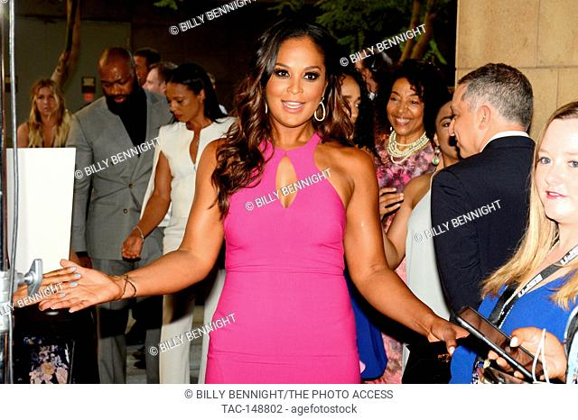 Laila Ali attends the 3rd Annual Sports Humanitarian of the Year Awards at LA LIVE'S The Novo in Los Angeles on July 11, 2017