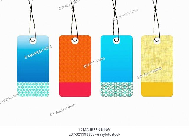 Abstract empty sale tags