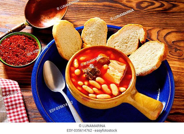 Tapas Fabada Asturiana beans and sausage from Spain