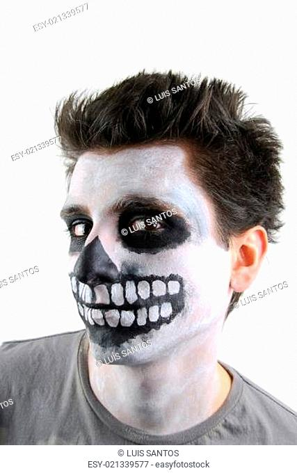 Creepy skeleton guy (Carnival face painting)