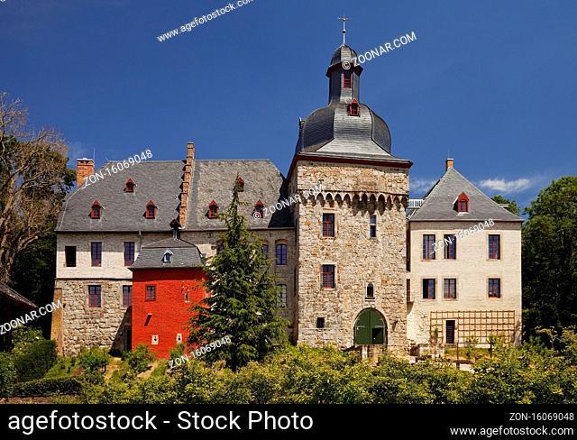 Schloss Liedberg, Korschenbroich, Niederrhein, Nordrhein-Westfalen, Deutschland, Europa
