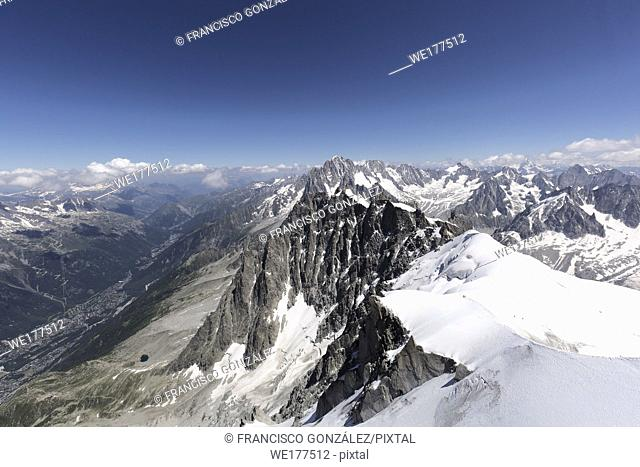Views from LA'Aiguille Du Midi in Chamonix, France