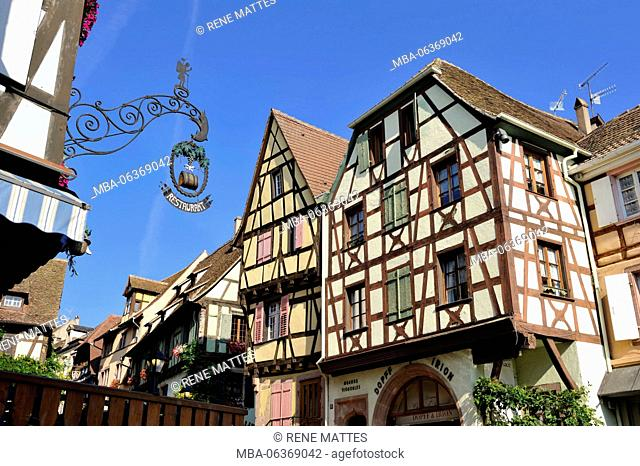 France, Haut Rhin, Alsace Wine Route, Riquewihr, labelled Les Plus Beaux Villages de France (The Most Beautiful Villages of France)