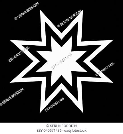 Trendy retro star it is the white color icon