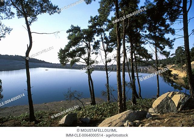 Pezi dam Ikaria, Northeastern Aegean Island, Greece