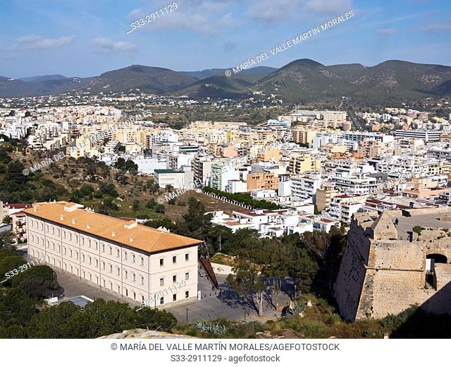 Eivissa from Dalt Villa walls. Islas Baleares. Spain