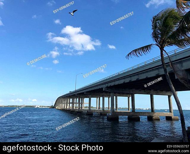 Rickenbacker Causeway Bridge Miami Toll road