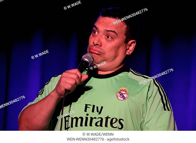 Comedian Carlos Mencia performing at the Valley Forge Casino & Resort, at the Event Center in Valley Forge, Pennsylvania