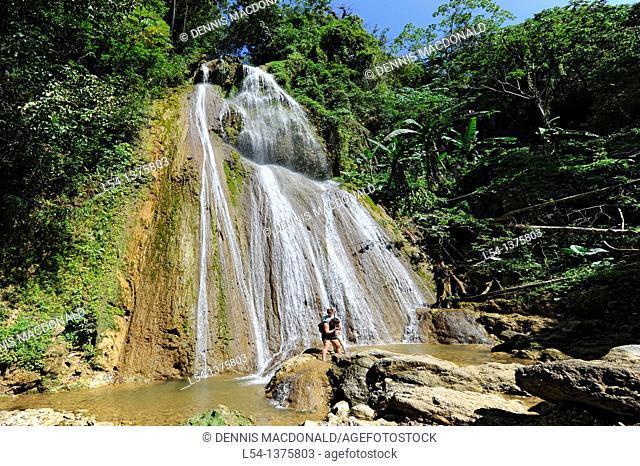 Waterfall Samana Dominican Republic Hispaniola Southern Caribbean Cruise