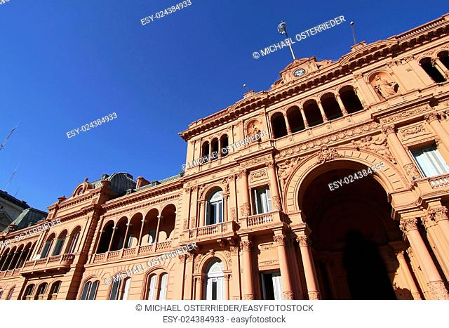 """The """"""""Casa Rosada"""""""", the government building in Buenos Aires, the Capital of Argentina"""