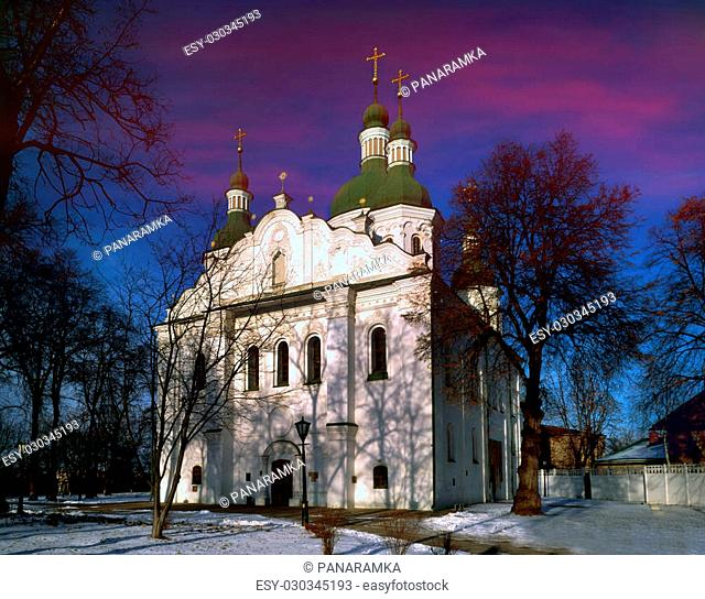 Cyril's Church (Church of Saints Cyril and Athanasius of Alexandria) - shestistolpny, cross temples in Kiev, one of the oldest surviving in the former Old...