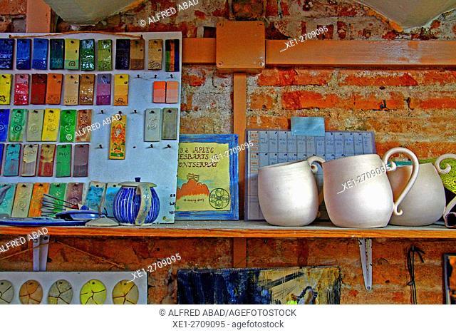 Ceramic workshop, Barcelona, Catalonia, Spain