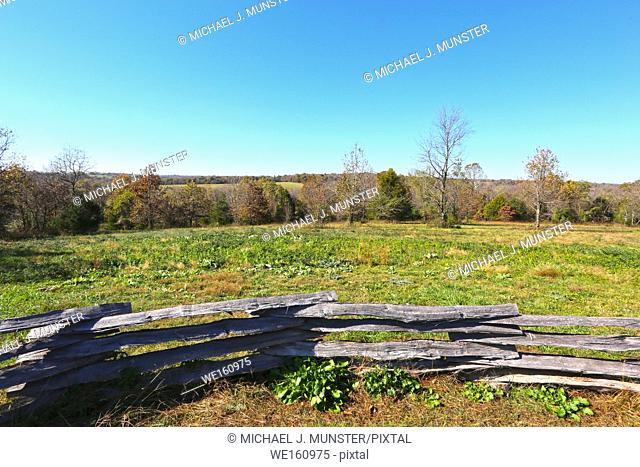 Wilson's Creek Battlefield in Springfield, Missouri. USA