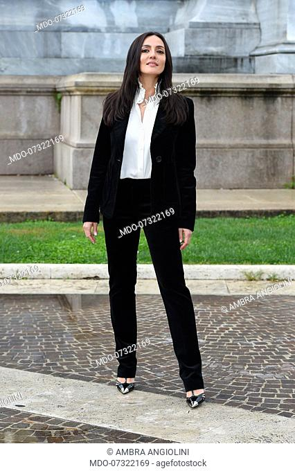 Italian actress Ambra Angiolini during Brave Ragazze photocall. Rome (Italy), October 3rd, 2019