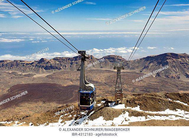 Cable car Teleférico del Teide, Tenerife, Canary Islands, Spain
