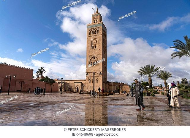 Minaret of the Koutoubia Mosque, Marrakech, Morocco