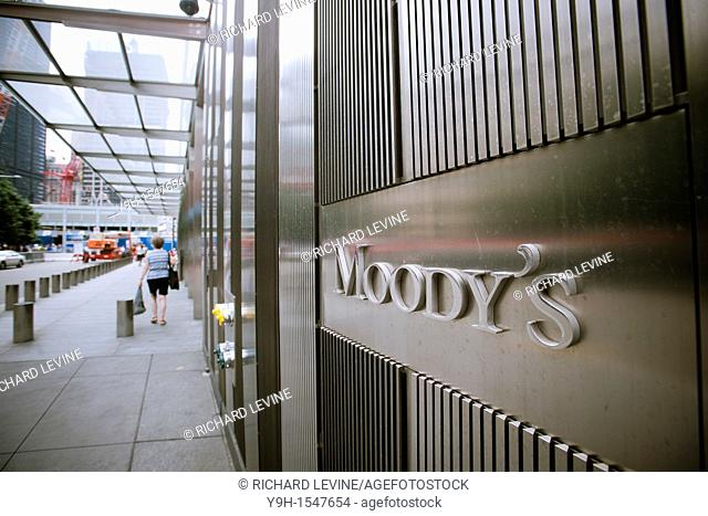 Moody's headquarters in Lower Manhattan in New York