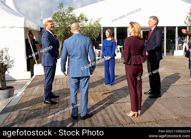 King Willem-Alexander of The Netherlands at Purified Metal Company in Delfzijl, on September 24, 2020, to open a recycling plant for contaminated steel