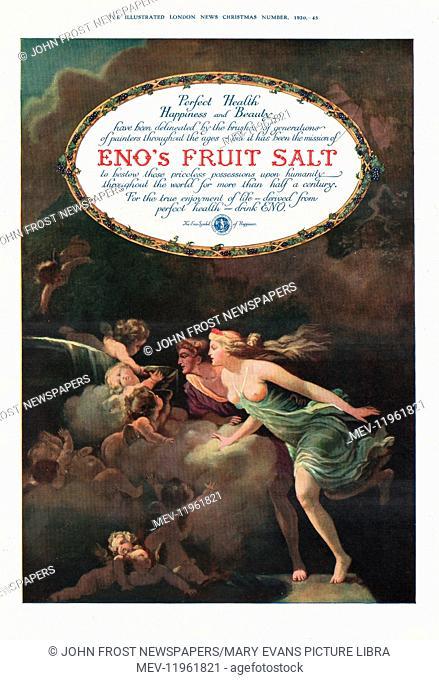 1920 UK Magazine Eno's Fruit Salt Advert Advert