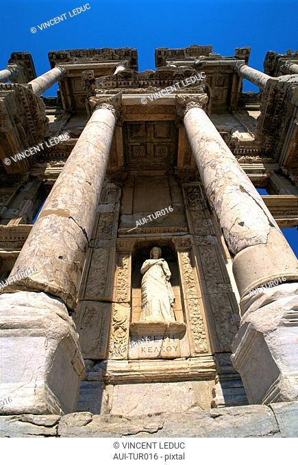 Turkey - Mediterranean Coast - Izmir Region - Selcuk - Epheze - Celsus' Library