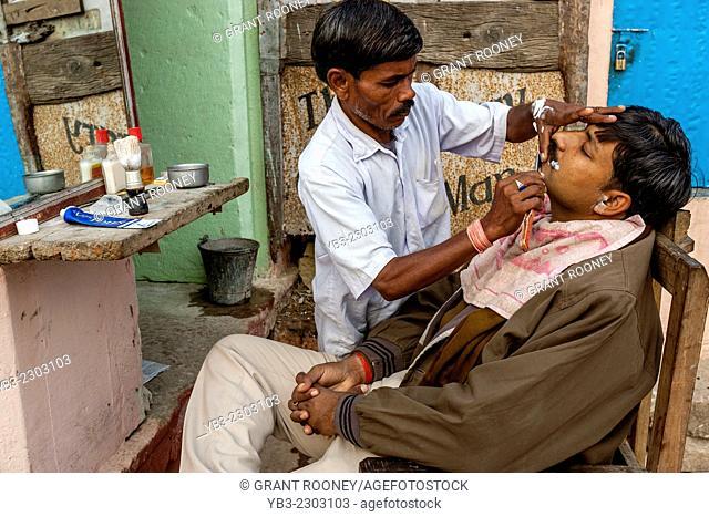 Barber Shop, Varanasi, Uttar Pradesh, India