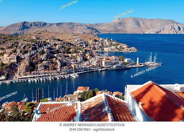 Landscape island Symi, Greece