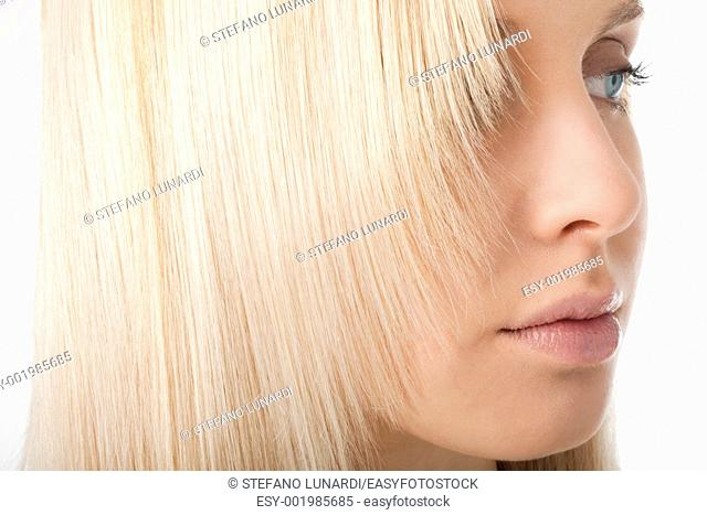 Close-up of blonde hair