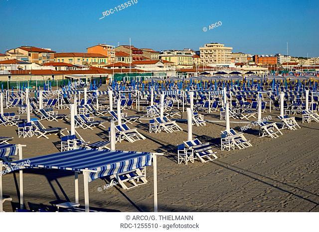 Marina di Pietrasanta, Beach,Tuscany, Tyrrhenian Sea, Mediterranean Sea, Italy