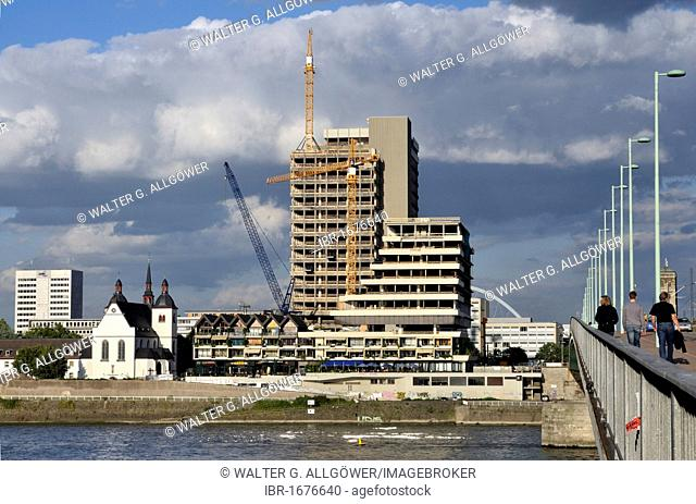 Lufthansa high-rise building, headquarters of the German airline until 2007, Deutzer bank of the Rhine River, maxCologne redevelopment project