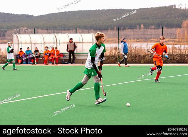 Russian youth championship 2015 field hockey. October 5, 2015. Team of Ekaterinburg vs team of Rostov region