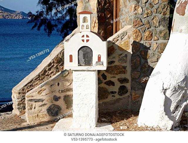 little shrine by the seafront - Leros - Greece