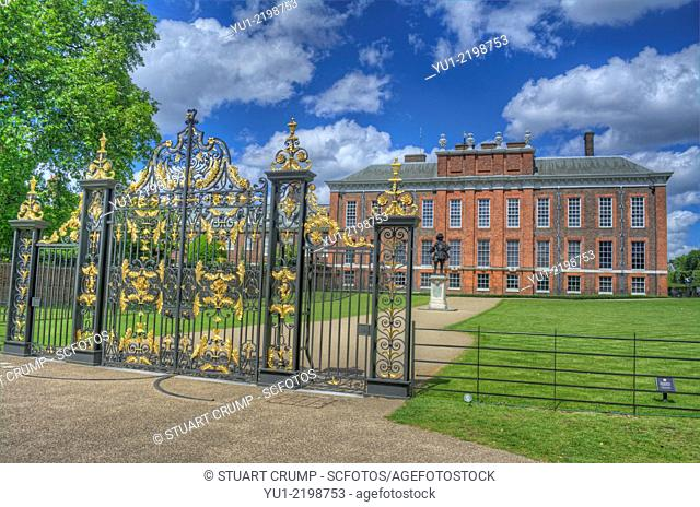 HDR image of Kensington Palace a royal residence set in Kensington Gardens, in the Royal Borough of Kensington and Chelsea in London