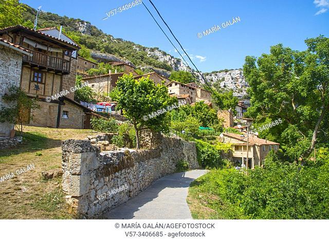 Overview. Orbaneja del Castillo, Burgos province, Castilla Leon, Spain