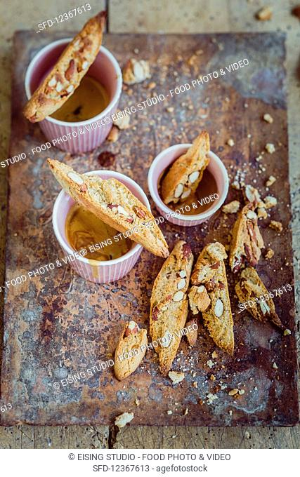 Cantuccini and an espresso