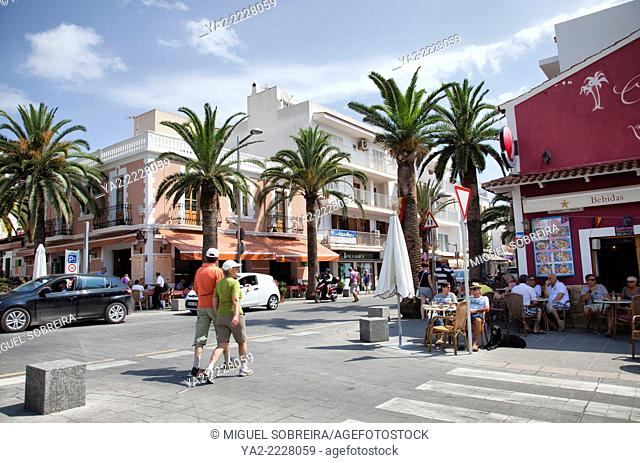 Santa Eulària des Riu town in Ibiza - Spain