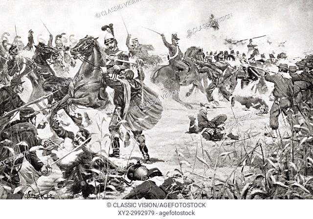 The Battle of Milazzo, 17-24 July 1860, between Giuseppe Garibaldi's volunteers and the troops of the Kingdom of Two Sicilies at Milazzo, Sicily