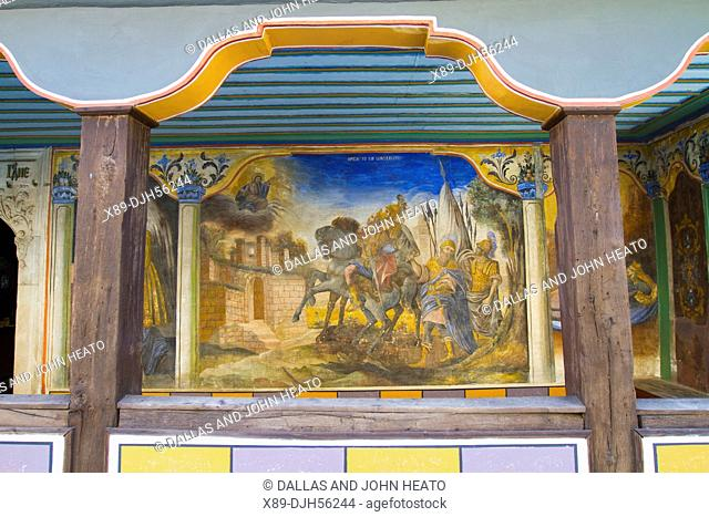 Bulgaria, Europe, Plovdiv, Church of SS Konstantin and Elena, St. Constantine and St. Helena Orthodox Church, Wall Fresco