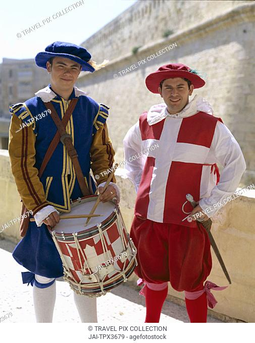 Fort St.Elmo / Men dressed in Historic Costume, Valetta, Malta