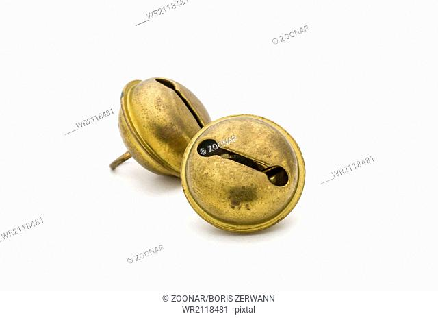 two old golden sleigh bells