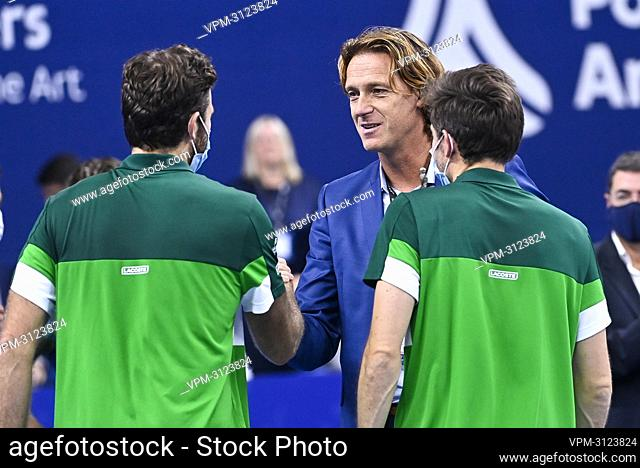 European Open Director Dick Norman pictured after a doubles men game between Dutch pair Koolhof - Rojer and French Mahut - Martin