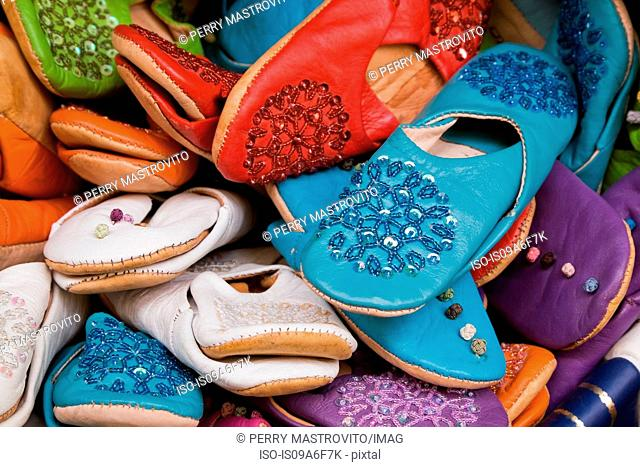 Colourful leather shoes for sale