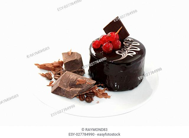 Chocolate cake is a cake flavored with melted chocolate and/or cocoa powder